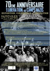 Affiche réalisée pour les commémorations du 70ème anniversaire de la libération des camps nazis à Saint-Glen (22) - 2015