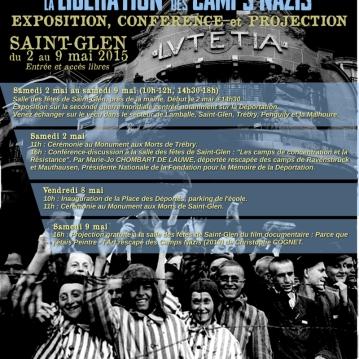 Affiche réalisée pour les commémorations du 70ème anniversaire de la libération des camps nazis à Saint-Glen (22)
