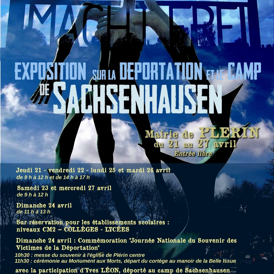 Affiche pour une exposition sur la déportation et le camp de Sachsenhausen à Plérin (22) - 2016