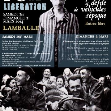 Affiche réalisée pour les commémorations du 70ème anniversaire de la libération à Lamballe (22) - 2014