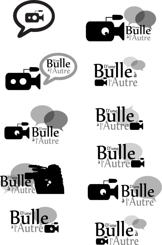 Logos réalisés pour la société d'Une Bulle à l'Autre (2014) - http://www.dunebullealautre.com/