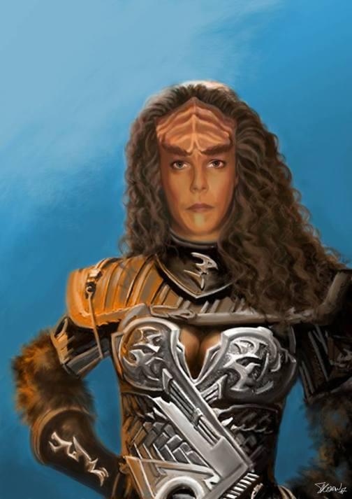 Auto-portrait en Klingon (Star Trek)