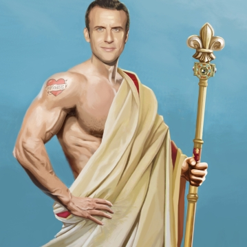 Portrait Macron Jupiter (2017)
