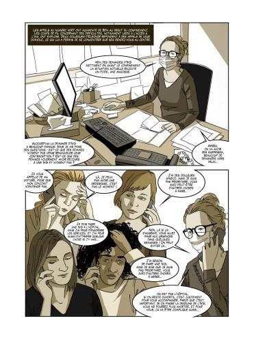 BD reportage sur le Planning Familial (revue La Vilaine - septembre 2020)