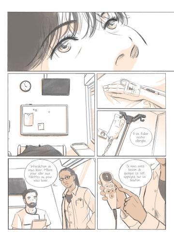 Le Shampoing - scénario d'une histoire courte dessinée par Isabelle Pons (décembre 2020)